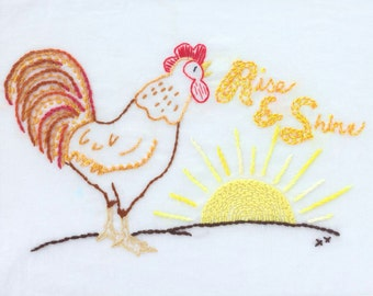 Country Kitchen Embroidery Design Farm Kitchen Theme Hand Embroidery Pattern Digital Embroidery