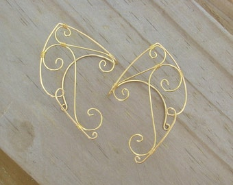 Gold Elven Ear Cuffs. Fairy Ear Cuffs. Elven Ear Cuffs. Elven Ear Wraps. Fairy Ear Wraps. Fairy Ears. Elf Ears.
