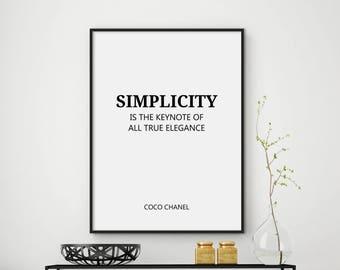 Coco Chanel, Coco Chanel Quote, Fashion Print, Printable Art Print, Fashion Poster, Fashion Wall Art, Fashion Quote