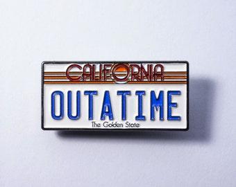 Zato Designs - Back To The Future Movie Car License Plate Lapel Pin