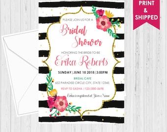 Kate Spade Invitation - Custom Invitation - Kate Spade Bridal Shower - Wedding - Party - Digital - Printed - Shipped - Invitation