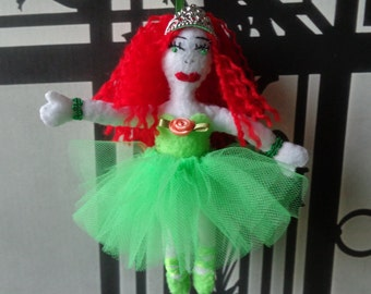 Handmade Ballerina Ornament with green or blue dress by Pepperland