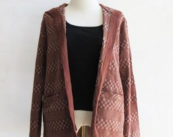 J2, Milk Chocolate Comfort Hood Light Brown Cotton Jacket
