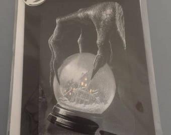 Krampus Snow Globe Greeting Card