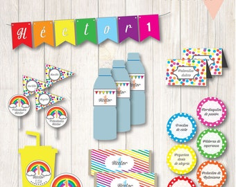 Printable party custom Rainbow