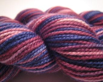 Hand dyed sock yarn - superwash - Summer Berries