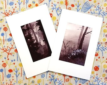 Minimalist Landscape Postcard Set (for postcrossing, incowrimo, etc!)