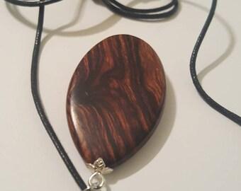 One-of-a-kind handmade desert Ironwood pendant