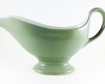 Shenango China Gravy Boat Green New Castle Pa G-14 U.S.A.