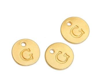 Letter G - Pendant 12mm gold gilt