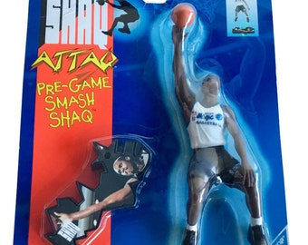 Shaq Attaq Pre-Game Smash Shaquille O'Neal Action Figure Orlando Magic 1994
