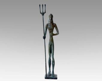 God Poseidon Statue, Bronze Sculpture, Metal Art Sculpture, Museum Quality Art, Greek Mythology, Olympian God, Neptune
