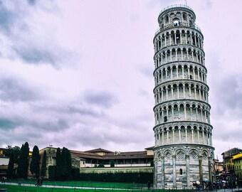 Leaning Tower Of Pisa, Italy, Italian Landmark, Travel Photography, Fine Art Print
