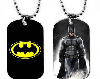 DOG TAG NECKLACE - Batman 4 Bruce Wayne Superhero Comic Book Art