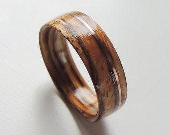 Wood and metal ring Etsy