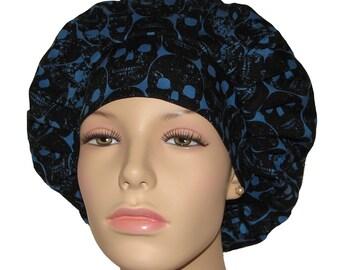 Scrub Hats-Bouffant Scrub Hats-ScrubHeads-Numb Skulls-Skulls Scrub Hat-Scrub Hats for Women-Anesthesia Scrub Hat-Veterinarian Scrub Hat
