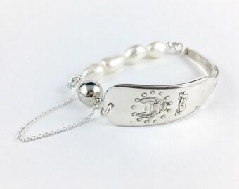 Massachusetts Bracelet, Massachusetts Gift, Wife Gift, Massachusetts Jewelry, Spoon Bracelet, Spoon Jewelry, Vintage Massachusetts