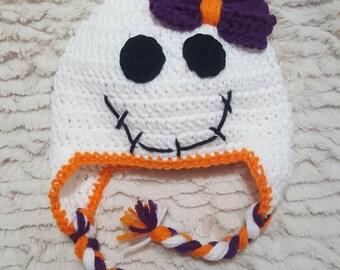 Crocheted Skeleton girl hat