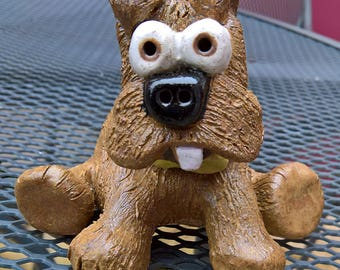 Stoneware Terrier Dog - have your dog made in pottery!