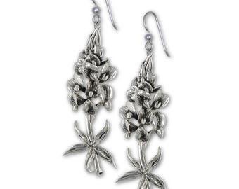 Bluebonnet Earrings Jewelry Sterling Silver Handmade Texas Wildflower Earrings BB10-FW