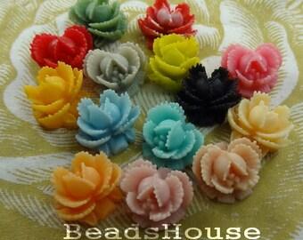 311-00-CA  28pcs Mini Rose Cabochons - Mix Colour