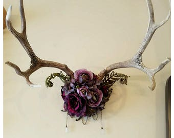 Hand made real antler decor