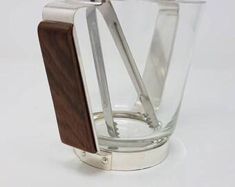 Mid Century Ice Bucket- Vintage Barware - 1960s Ice Bucket - Stylish Mad Men Bar Ware - Grasoli Solingen - Mad Men