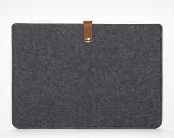 MacBook Sleeve – MacBook Air Case – MacBook Air Cover – MacBook Air 13 Leather - Felt Leather Case