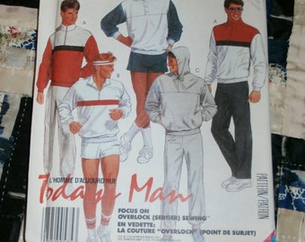 1986 McCalls Pattern 2714 for Men's Top, Pants and Shorts Size  Extra Large Uncut