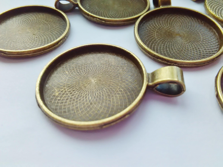 5 Bronze Anhänger Tabletts passt 25mm 1 Zoll