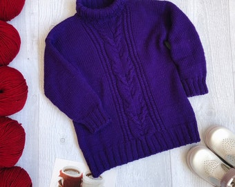 Sweater for girls 1-3 years old from merino wool