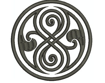 Machine Embroidery Design Instant Download - Doctor Who Seal of Rassilon
