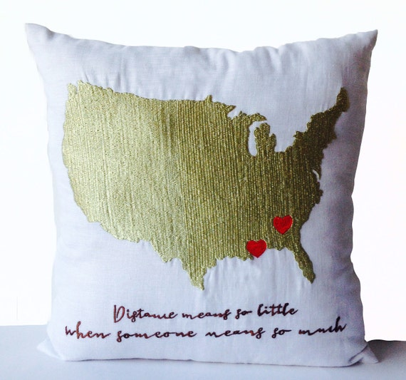 Long Distance Relationship Gifts Pillow