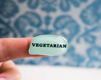 vegetarian button , gift for vegetarian , vegetarian pins , vegetarian jewelry