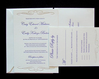 Affordable Letterpress  Wedding Invitations - Samples