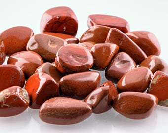 Tumbled Red Jasper Gemstone - Stone for the Lifeblood of Earthen Energy