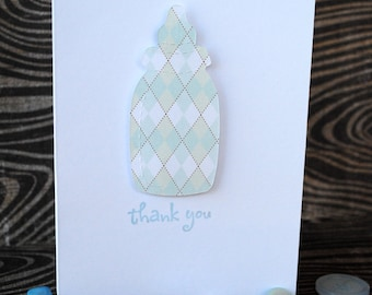 Baby Boy Baby Bottle - Thank You cards - Set of 10