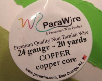 Copper over Copper Core - 24 Gauge Wire from ParaWire - 20 yard Spool