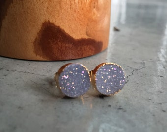 Druzy Earrings. Druzy Studs, Druzy Stud Earrings
