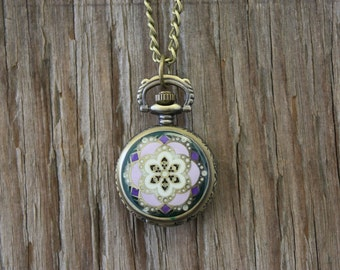 Small Enamel Watch Necklace