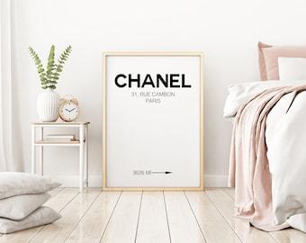 Chanel Print, Coco Chanel Digital Art, Chanel Poster, Chanel Wall Art, Wall Decor, Chanel Printable Art, Chanel Poster 24x36, Digital Print