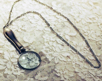 Magnifying Glass Necklace Great Gift for Reading Aide Grandmother or Grandfather Mother's Or Father's Day Ready to ship Functional Jewelry