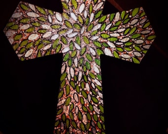 12 x 16 hand painted wooden cross