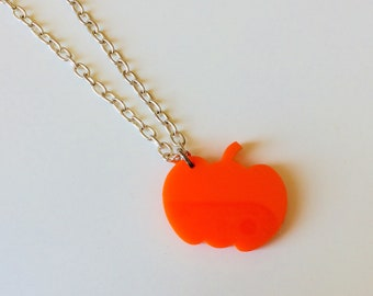 Sale | Pumpkin | Scene | Emo | Halloween | Laser Cut | Acrylic | Necklace