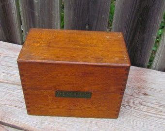 Vintage 1940's Imperial Method Wooden Recipe Box