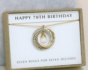 70th birthday gift for her, June birthstone jewelry, June birthday gift - Lilia