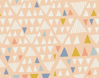 Crib Sheet Girls Crib Bedding - Coral Peach Nursery / Peach Changing Pad Cover / Mini Crib Sheet / Coral Baby Bedding / Geometric Bedding