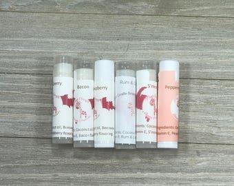 Chapstick, Lip Balm, Homemade Chapstick, Homemade Lip Balm, Coconut oil, Beeswax, handmade Chapstick, Handmade Lip Balm