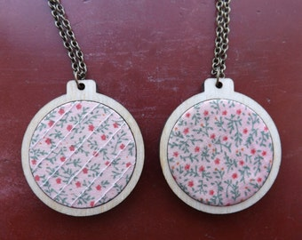 Floral charity necklaces.