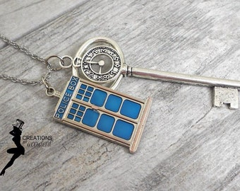 Key to the TARDIS Necklace | Doctor Who Necklace | Companion Necklace | TARDIS Key | Police Box Necklace | Whovian Gift | Geekery | Dr Who